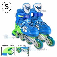 Beli Power Sport Two Stripes 8000 Aosite Inline Skate Sepatu Roda 2 In 1 Adjustable Wheel S 29 33 Online Terpercaya