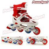 Harga Powersport Boom Inline Skate Sepatu Roda Adjustable Wheel Merah S 28 32 Asli Power Sport