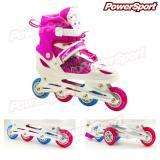 Harga Powersport Boom Inline Skate Sepatu Roda Adjustable Wheel Pink S 28 32 New