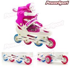 Toko Powersport Boom Inline Skate Sepatu Roda Adjustable Wheel Pink S 28 32 Dekat Sini