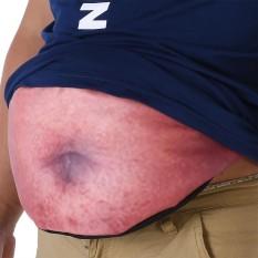 Praktis Daging Berwarna Ritsleting Olahraga Tas Pinggang Pack Lemak Beer Belly Pouch Pocket (#2)-Intl
