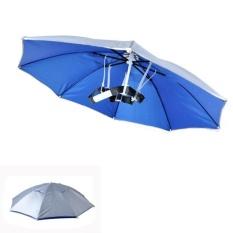 Harga Practical Headband Multicolor Outdoor Sport Foldable Umbrella Hat Cap Rain Best Intl