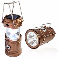 Prime Mini Lampu Lentera Senter Emergency LED Solar Rechargeable - Emas