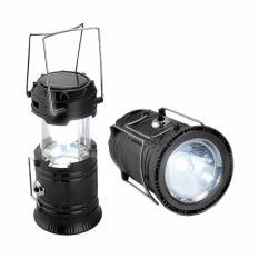 Prime Mini Lampu Lentera Senter Emergency LED Solar Rechargeable - Hitam