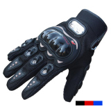 Toko Pro Biker Carbon Fiber Bike Motorcycle Motorbike Racing Gloves Full Hitam Lengkap Indonesia