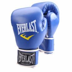 Profesional Sarung Tinju Sarung Tangan MMA Muay Thai Pelatihan Sarung Tangan Sarung Tangan Tinju (Biru)