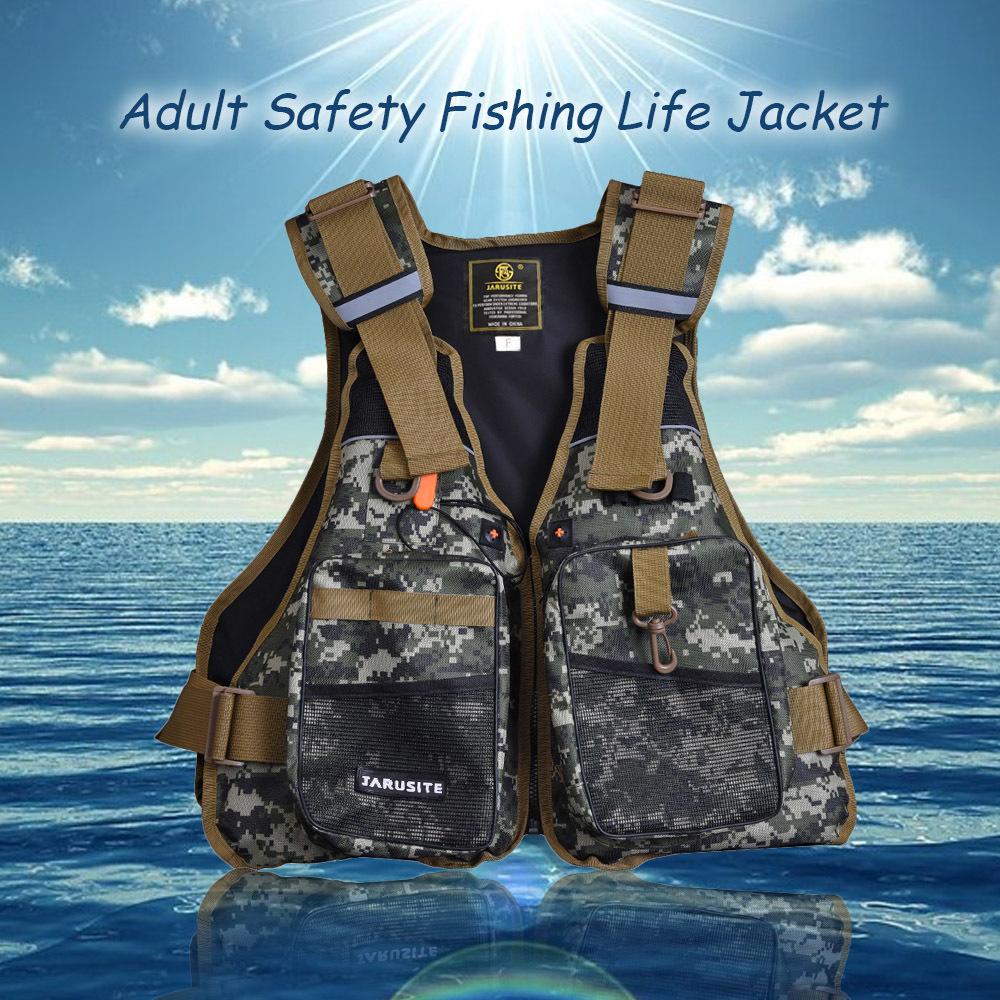 Pencarian Termurah Dewasa profesional Safety baju pelampung keselamatan flotasi rompi renang kayak perahu hanyut dengan peluit