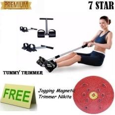 PROMO PAKET OLAHRAGA Alat Pembentuk Tubuh Tummy Trimmer + FREE Jogging Body Plate 1Pcs