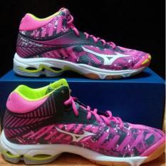 Promo Sepatu Mizuno Wave Lightning Z4 Mid Pink