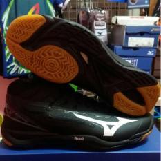 promo sepatu mizuno wave mirage 2 hitam mid original