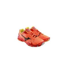 PROMO SEPATU VOLLY MIZUNO WAVE TORNADO 9 - NEON ORANGE / BLACK / CHINESE RED ( 100% ORIGINAL )
