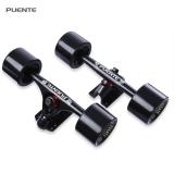 Beli Puente 2 Pcs Universal Tahan Lama Magnesium Alloy 7 Inch Skateboard Truk Dengan Roda Internasional Yang Bagus