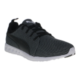 Jual Puma Carson Knitted Men S Running Shoes Quiet Shade Puma Black Puma Grosir