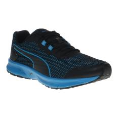 Ulasan Mengenai Puma Descendant V4 Men S Running Shoes Puma Black Blue Danube
