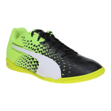 Puma Evospeed Sala Graphic Footbal Shoes Black White Safety Yellow Puma Diskon