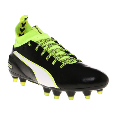 Harga Puma Evotouch 1 Fg Football Shoes Black White Safety Yellow