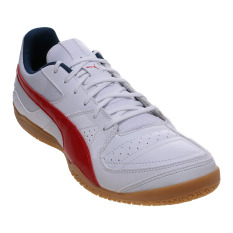 Puma Gavetto Sala Futsal Shoes White High Risk Red Blue Wing Teal Puma Diskon 30