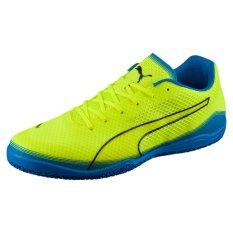 Jual Puma Invicto Fresh Footbal Shoes Safety Yellow Peacoat Electric Blue Lemonade Branded Original