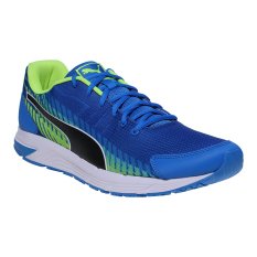 Jual Puma Sequence V2 Men S Running Shoes Electric Blue Lemonade Puma Black Safety Yellow Online Di Indonesia