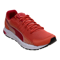 Harga Puma Women Sequence V2 Running Shoes Fluo Peach Rose Red White New