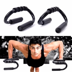 Push Up Bar Stand Handle Pull Latihan Latihan Latihan Home Gym Kebugaran Hitam-Intl