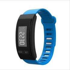 Review Qq Elektronik Watch Olahraga Gelang Pedometer Kalori Perjalanan Tampilan Waktu Biru Intl Di Tiongkok