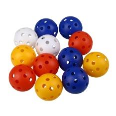 Kualitas 50 Pcs Plastik Aliran Udara Hollow Golf Praktek Latihan Bola Golf Aksesoris-Intl