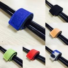 Pelangi Situs 2 Pcs Baru Seksi Penjualan Populer Tas Pancing Tongkat Alat Pancing Pembungkus Tali Bungkus Tiang Penahan Penyimpanan Tali Sabuk -Merah-Satu Ukuran-Internasional
