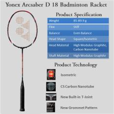 Jual Beli Raket Badminton Bulutangkis Yonex Arcsaber D18 Original Indonesia