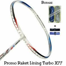Raket BADMINTON Lining Turbo X77 Original BONUS TAS DAN HANDGRIP MURAH DISKON OBRAL JUAL PERLENGKAPAN OLAHRAGA BULUTANGKIS ADHA SPORT