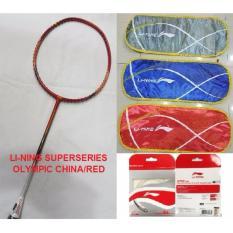 RAKET LINING SUPERSERIES OLYMPIC CHINA RED MERAH ORIGINAL BADMINTON MURAH OBRAL SALE DISKON JUAL PERLENGKAPAN BULUTANGKIS SURABAYA ADHA SPORT