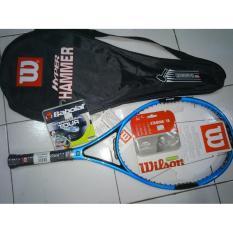 Raket Tenis Wilson Hyper Hammer H6 Blue + Bonus Tas & Grip