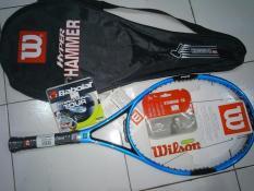 Raket Tennis Wilson Hyper Hammer H6 Blue + Tas