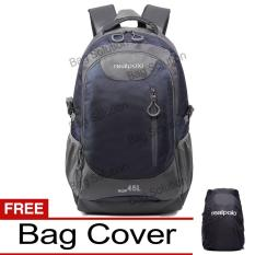 Jual Real Polo Tas Ransel Kasual Jumbo 6333 Backpack Xl Bonus Bag Cover Biru Tua Hk Murah
