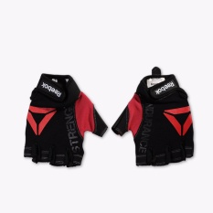 Reebok Training Strength Men's Gloves - L - Hitam-Merah