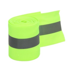Reflektif Lime Green Grey Tape Sew On 2 \ Trim Bahan Kain 10 Kaki - Intl By Electronicity.