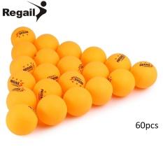 REGAIL 60 Hitungan 3 Bintang Latihan Tenis Meja Ping Pong Ball untuk Pelatihan Lanjutan (Kuning)-Intl