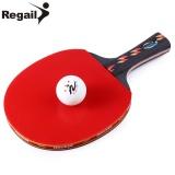 Spesifikasi Regail D003 Tenis Meja Ping Pong Raket Satu Panjang Tangan Le Paddle Bat Dengan Ball Shake Tangan Grip Intl