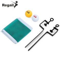 REGAIL Portable Table Tennis Set Net Ping Pong Ball Fix Equipment - intl
