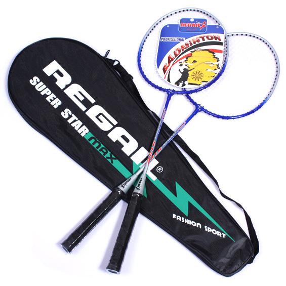 Dilengkapi dengan tas raket Regail Raket Badminton 2 PCS - Blue