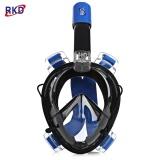 Harga Rkd Scuba Anti Kabut Dilepas Kering Snorkeling Full Face Mask Set Untuk Gopro Kamera Biru Dan Hitam Intl