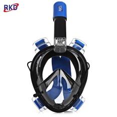 Review Pada Rkd Scuba Anti Kabut Dilepas Kering Snorkeling Full Face Mask Set Untuk Gopro Kamera Biru Dan Hitam Intl