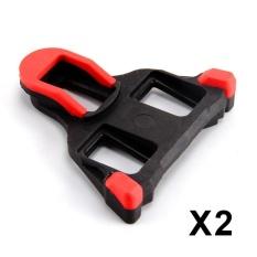 Road Bike Cleats untuk Kebanyakan Sepatu Bersepeda, Self-locking Bersepeda Pedal Cleat untuk Shimano SH-11 SPD-SL Warna: Merah