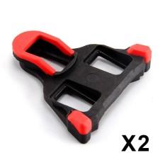 Road Bike Cleats untuk Kebanyakan Sepatu Bersepeda, Self-locking Bersepeda Pedal Cleat untuk Shimano SH-11 SPD-SL Warna: Red Lucky-G-Intl