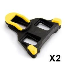 Road Bike Cleats untuk Kebanyakan Sepatu Bersepeda, Self-locking Bersepeda Pedal Cleat untuk Shimano SH-11 SPD-SL Warna: Kuning-Intl