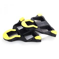 Road Cleat Splint Group Road Bike Sepatu Bersepeda Kait Pengunci Diri Piece Pedal Sepeda untuk untuk SHIMANO SPD Sistem (kuning) -Intl