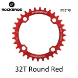 Jual Rockbros 32 T 34 T 36 T 38 T Crankset Mtb Bike Bicycle Parts Oval Round Sepeda Sepeda Engkol Chainwheel 104Bcd Wide Narrow Chainring 32 T Round Merah Rockbros Grosir