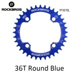 Harga Rockbros 32 T 34 T 36 T 38 T Crankset Mtb Bike Bicycle Parts Oval Round Bicycle Sepeda Engkol Chainwheel 104Bcd Wide Narrow Chainring 36 T Round Blue Intl Murah