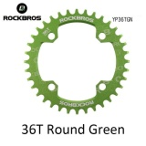 Beli Rockbros 32T 34T 36T 38T Crankset Mtb Bike Bicycle Parts Oval Round Bicycle Bike Crank Chainwheel 104Bcd Wide Narrow Chainring 36T Round Green Intl Kredit Hong Kong Sar Tiongkok