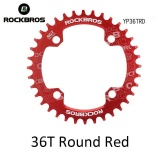 Ulasan Tentang Rockbros 32 T 34 T 36 T 38 T Crankset Mtb Bike Bicycle Parts Oval Round Sepeda Sepeda Engkol Chainwheel 104Bcd Wide Narrow Chainring 36 T Round Merah